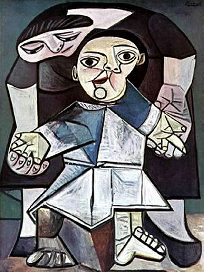 Pablo Picasso Classical Paintings Firsts Steps Mother And Child
