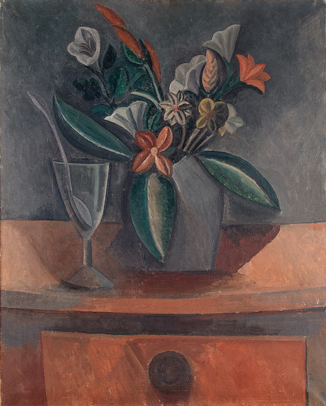 Pablo Picasso Oil Paintings Flowers In A Grey Jar