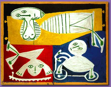 Pablo Picasso Classical Francoise Gilot With Paloma And Claude