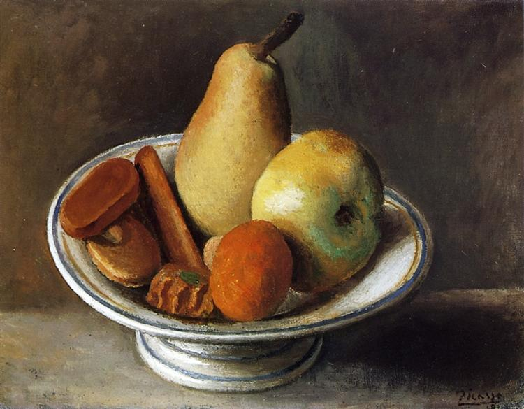 Pablo Picasso Classical Oil Paintings Fruit Bowl With Fruit