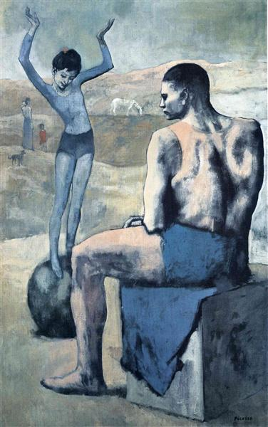 Pablo Picasso Oil Paintings Girl On The Ball Fillette A La Boule