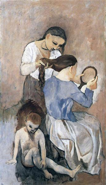 Pablo Picasso Classical Oil Painting Hairdressing La Coiffure