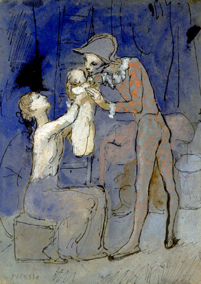 Pablo Picasso Paintings Harlequin'S Family Famille D'Arlequin