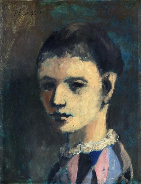 Pablo Picasso Classical Oil Paintings Harlequinesque Personage