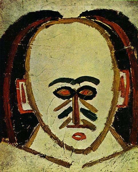 Pablo Picasso Painting Head Of A Man Tete D'Homme
