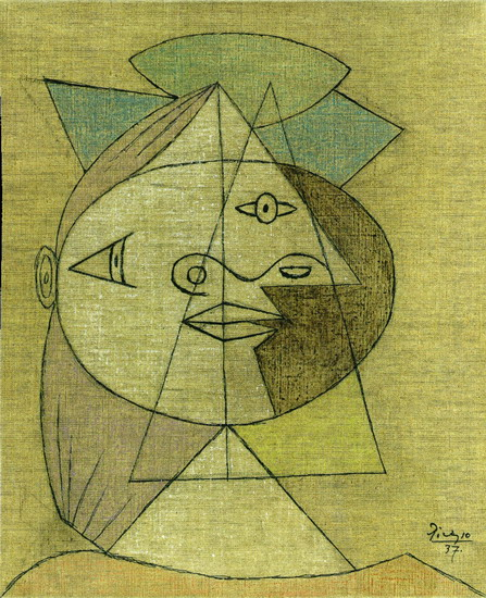 Pablo Picasso Painting Head Of A Woman Marie Therese Walter