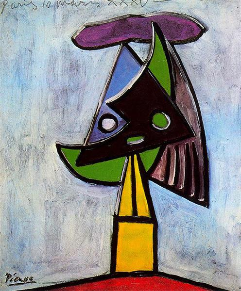 Pablo Picasso Oil Painting Head Of A Woman Olga Picasso