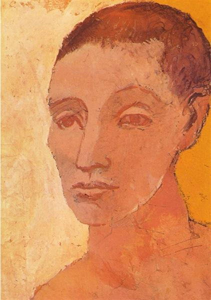 Picasso Head Of Young Man Male Portrait Tete De Jeune Homme