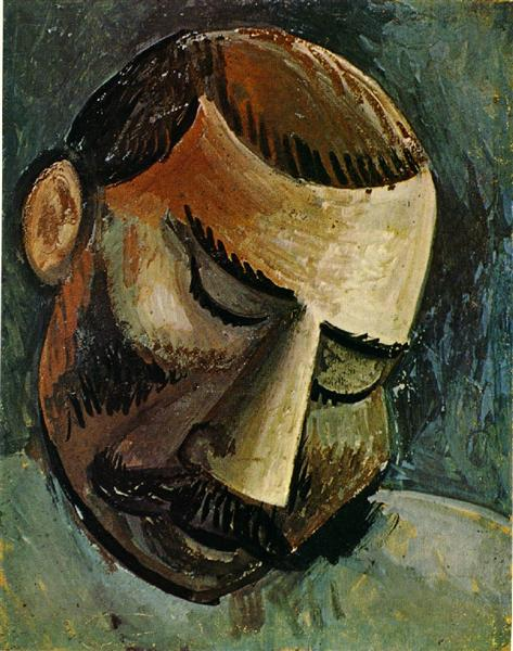 Pablo Picasso Painting Head Portraits Of A Man Tete D'Homme