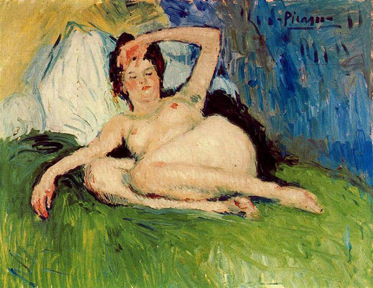 Pablo Picasso Classical Oil Paintings Jeanne (Reclining Nude)