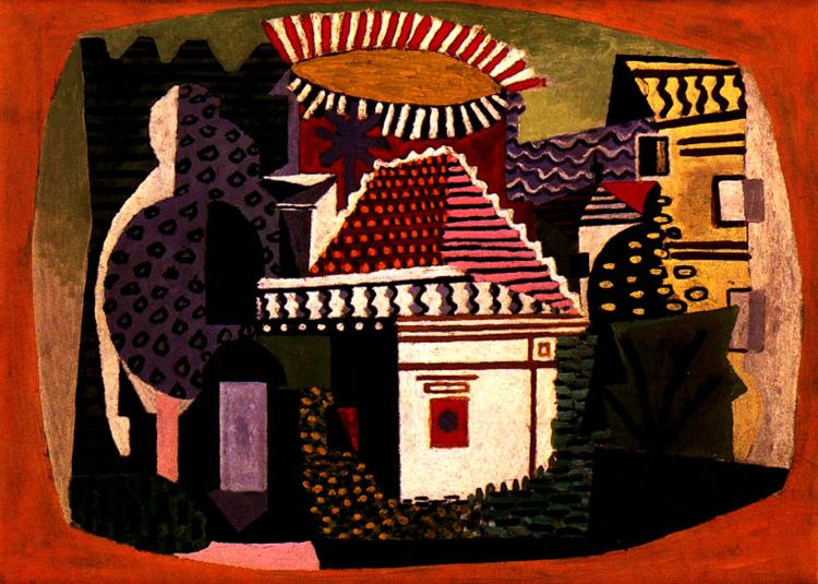 Pablo Picasso Classical Oil Paintings Landscape Of Juan-Les-Pins