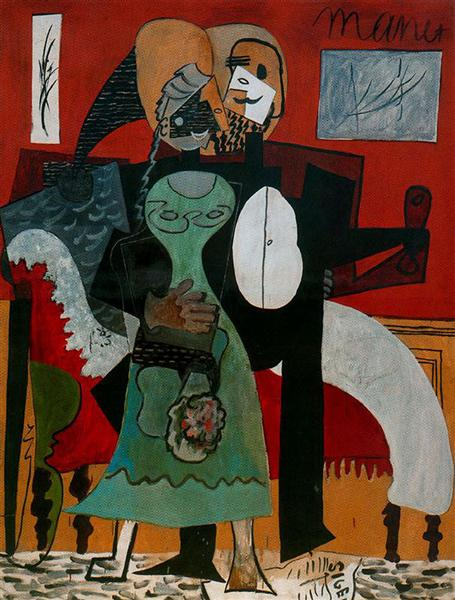 Pablo Picasso Classical Oil Paintings Lovers Les Amoureux