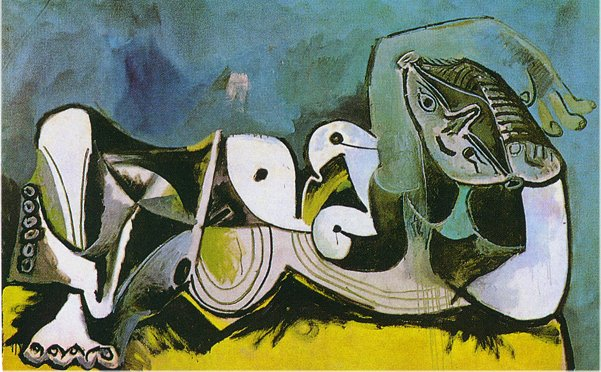 Pablo Picasso Oil Paintings Lying Female Nude Surrealism