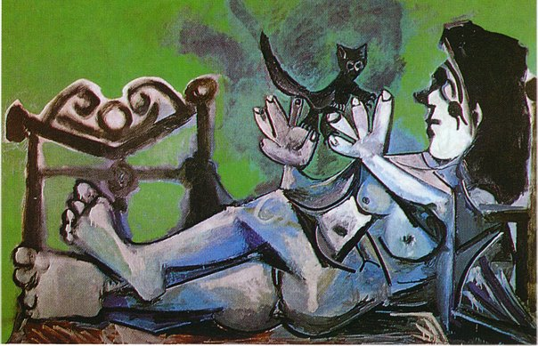 Pablo Picasso Lying Female Nude With Cat Femme Nue Couchee