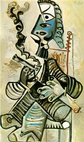 Pablo Picasso Classical Oil Painting Man With Pipe Homme La Pipe