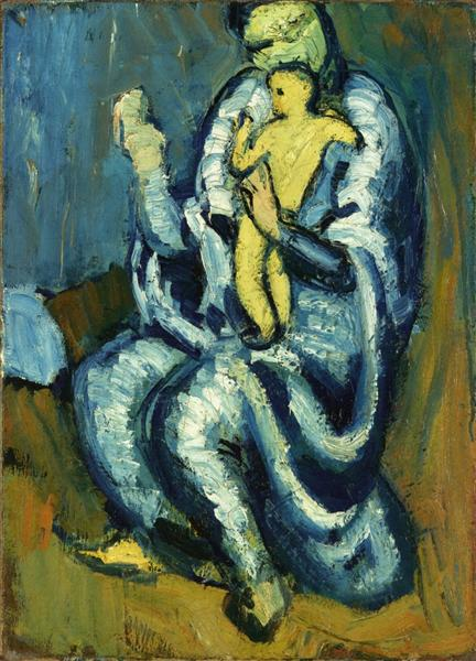 Pablo Picasso Oil Paintings Motherhood Post Impressionism