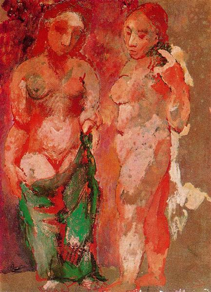 Pablo Picasso Nude Woman Naked Face And Nude Woman Profile