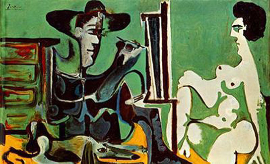 Pablo Picasso Oil Paintings Painter And His Model Surrealism
