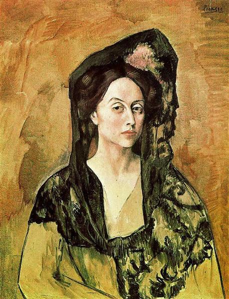 Pablo Picasso Classical Oil Painting Portrait Of Madame Canals
