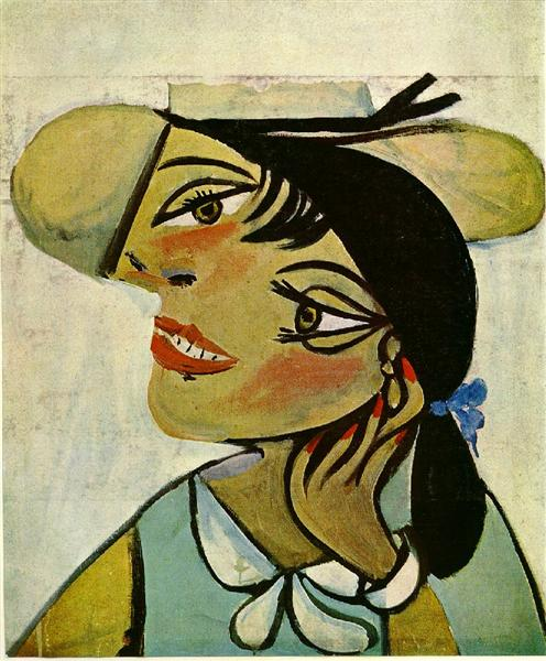 Pablo Picasso Painting Portrait Of Woman In D'Hermine Pass Olga