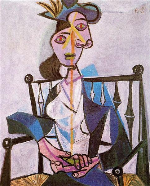Pablo Picasso Classical Oil Paintings Seated Dora Maar