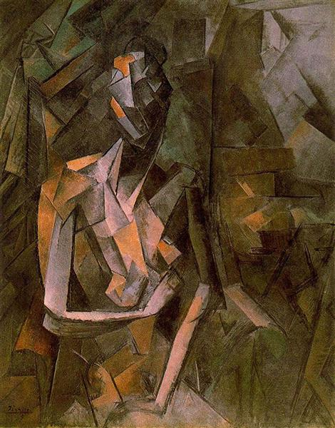 Pablo Picasso Paintings Seated Female Nude Analytical Cubism