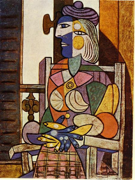 Pablo Picasso Paintings Seated Portrait Of Marie-Therese Walter
