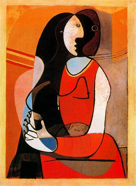 Pablo Picasso Classical Oil Painting Seated Woman Cubism 1927