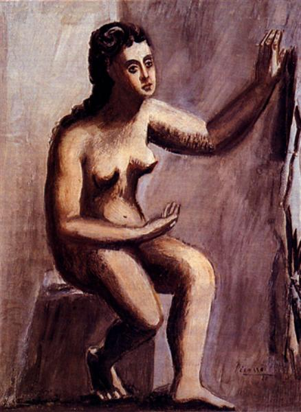 Pablo Picasso Painting Seated Woman Femme Assise Neoclassicism