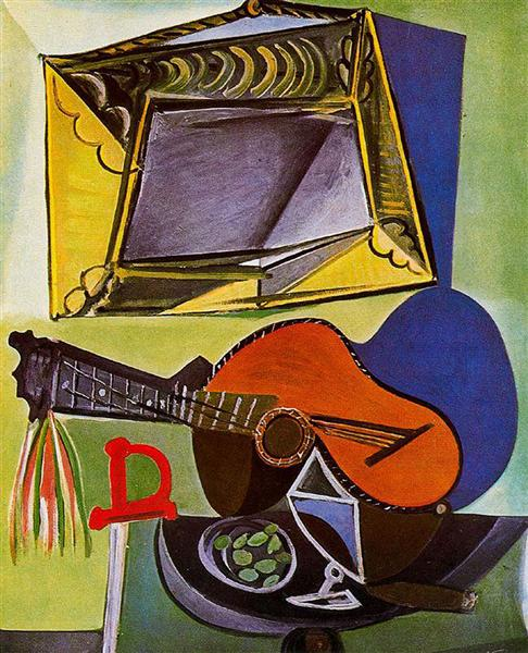 Pablo Picasso artwork Still Life With Guitar Musical Instruments