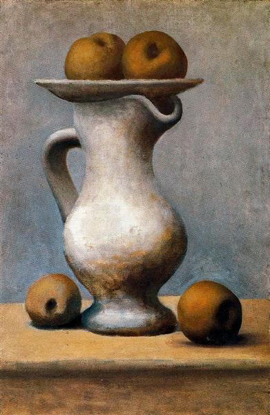 Pablo Picasso Oil Painting Still Life With Pitcher And Apples