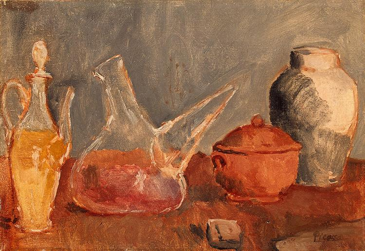Pablo Picasso Still Life With Vases Nature Morte Aux Vases