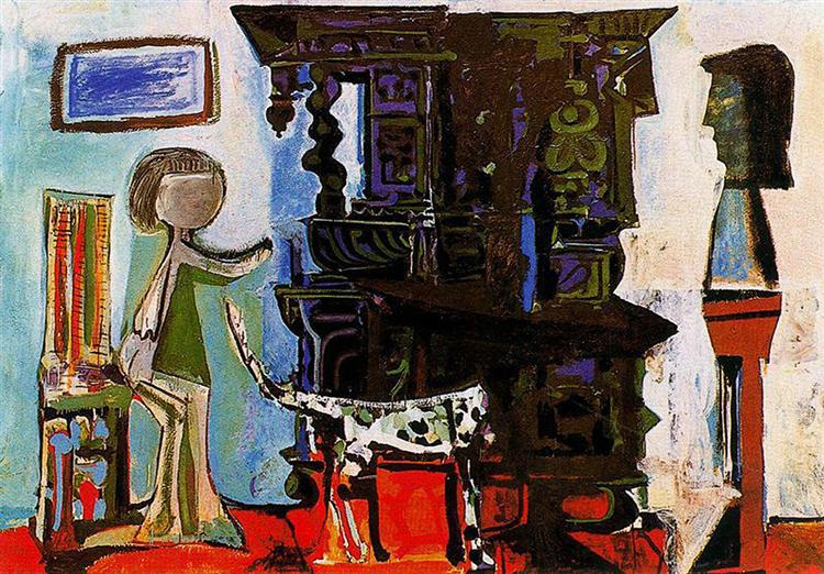 Pablo Picasso Oil Painting The Dining Room Of Vauvenargues