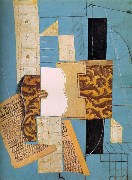 Pablo Picasso Classical Oil Painting The Guitar La Guitare