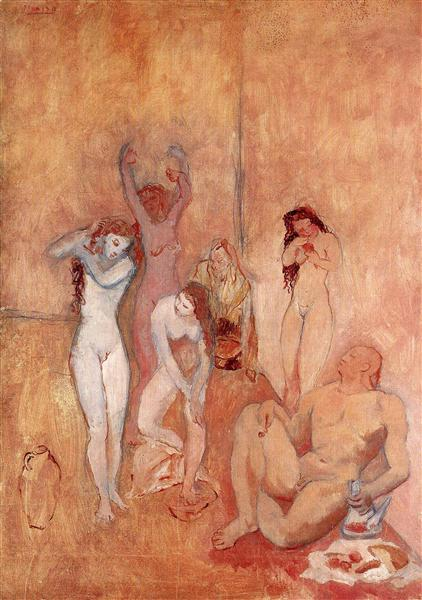 Pablo Picasso Classical Oil Painting The Harem Le Harem
