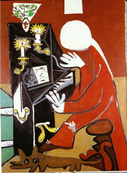 Pablo Picasso Classical Oil Painting The Piano Velazquez