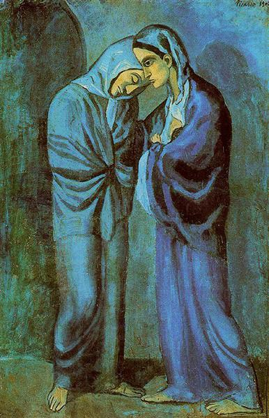 Pablo Picasso Classical Oil Paintings The Visit The Two Sisters