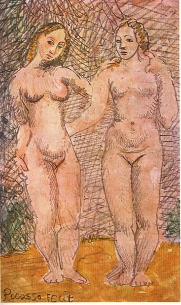 Picasso Two Female Nude Women Deux Femmes Nues Expressionism