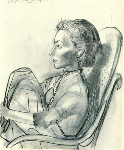 Pablo Picasso Classical Paintings Untitled Women And Chair