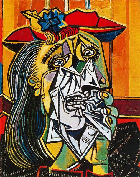 Pablo Picasso Oil Paintings Weeping Woman Femme En Pleurs