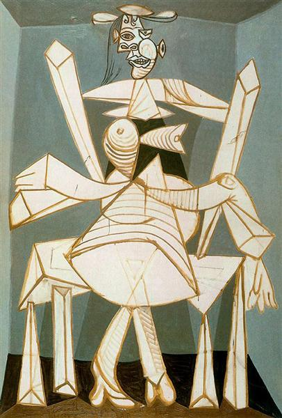 Pablo Picasso Classical Oil Painting Woman In An Armchair