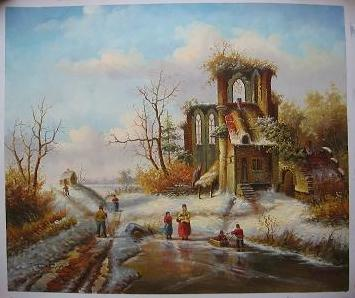 Dafen Oil Painting on canvas -building04