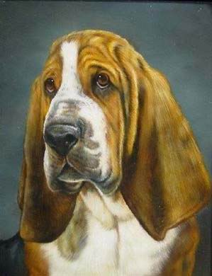 Dafen Oil Painting on canvas -dog003