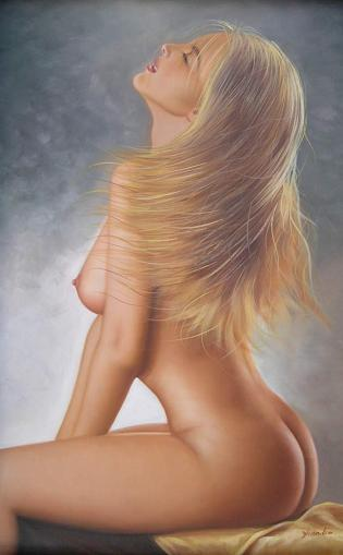 Dafen Modern Naked Portraiture Oil Painting on canvas -figure073