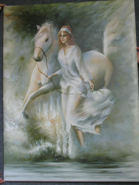 Dafen Oil Painting on canvas -horse043