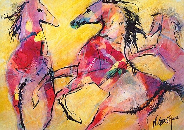 Dafen Oil Painting on canvas -horse059