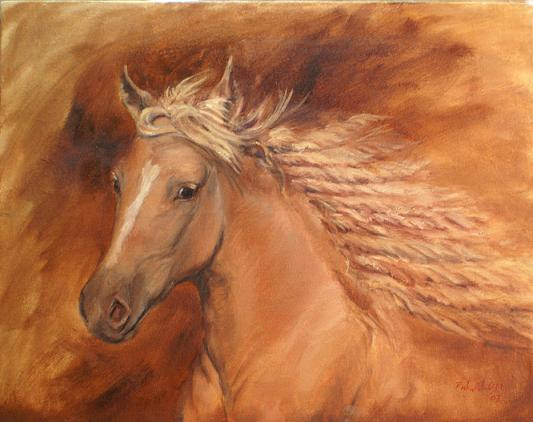 Dafen Oil Painting on canvas -horse066