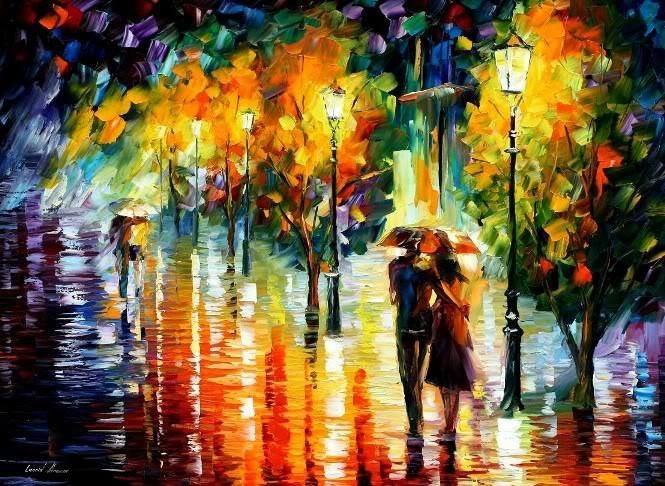 Modern impressionism palette knife oil painting kp002