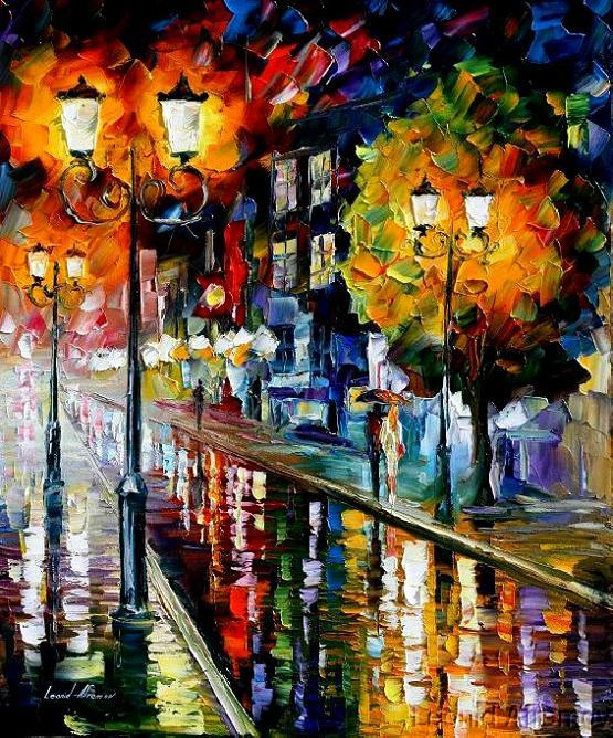 Modern impressionism palette knife oil painting kp015