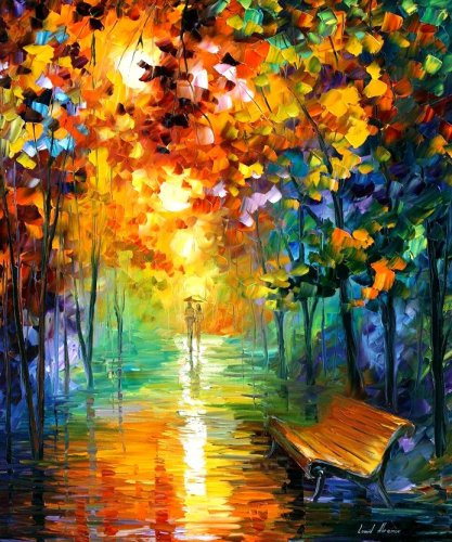 Modern impressionism palette knife oil painting kp019
